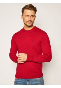 Czerwony sweter klasyczny TOMMY HILFIGER