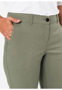 Zielone spodnie bonprix na spotkanie biznesowe, biznesowe