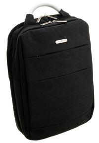 DAVID JONES - Duży plecak męski czarny David Jones PC-030 BLACK. Kolor: czarny. Materiał: materiał