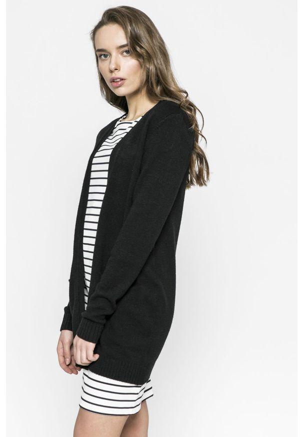 Czarny sweter rozpinany Vila casualowy, na co dzień