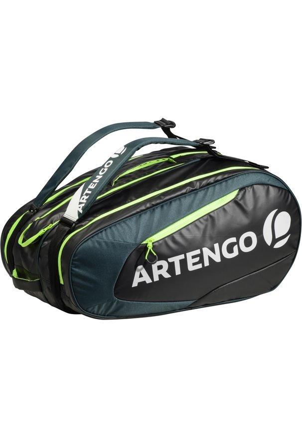 ARTENGO - Torba tenis i inne sporty rakietowe 530 S. Kolor: czarny, wielokolorowy, zielony. Materiał: mesh. Sport: tenis