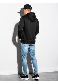 Czarna bluza Ombre Clothing z kapturem