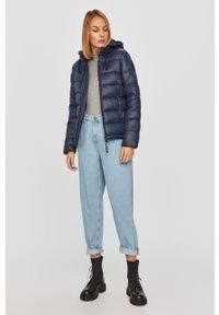 Niebieska kurtka Pepe Jeans na co dzień, z kapturem, casualowa