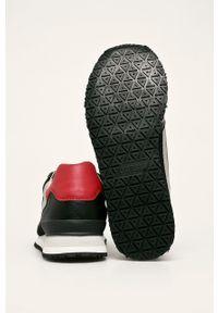 Czarne sneakersy Guess Jeans z okrągłym noskiem, z cholewką