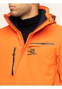 Pomarańczowa kurtka sportowa salomon narciarska
