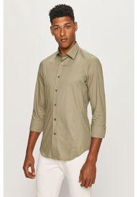 Szara koszula G-Star RAW długa, klasyczna, z klasycznym kołnierzykiem, na co dzień
