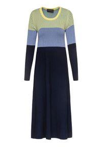 Sukienka dzianinowa Sportmax Code w kolorowe wzory