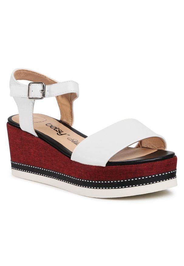 Białe sandały Betsy casualowe, na co dzień