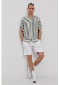 Only & Sons - Koszula. Typ kołnierza: kołnierzyk klasyczny. Kolor: turkusowy. Materiał: tkanina. Długość rękawa: krótki rękaw. Długość: krótkie. Styl: klasyczny