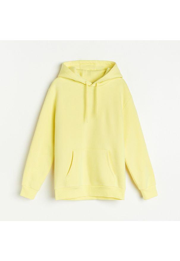 Żółta bluza Reserved z kapturem