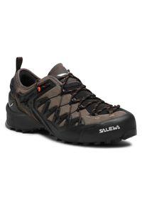 Szare buty trekkingowe Salewa trekkingowe