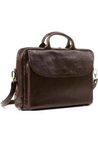 Brązowa torba na laptopa KEMER