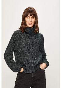 Szary sweter Roxy raglanowy rękaw, z golfem