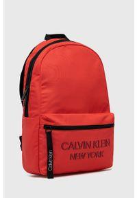 Calvin Klein - Plecak. Kolor: czerwony. Materiał: poliester