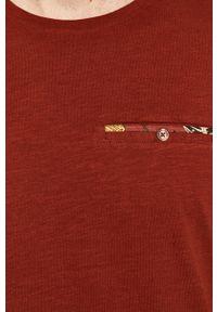 Brązowy t-shirt medicine z okrągłym kołnierzem