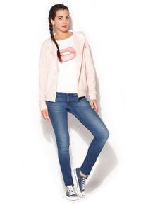 Różowa bluzka Katrus sportowa, z kapturem