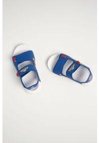 Niebieskie sandały Adidas na rzepy