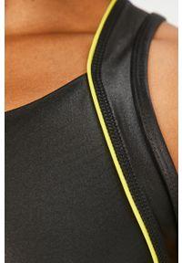 Czarny biustonosz sportowy Guess Jeans z aplikacjami