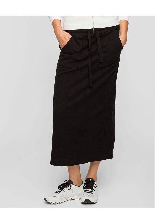 Deha - DEHA - Długa bawełniana spódnica. Okazja: na co dzień. Kolor: czarny. Materiał: bawełna. Długość: długie. Styl: casual