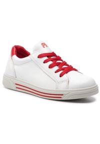 Primigi - Sneakersy PRIMIGI - 3383422 S Bianc. Okazja: na co dzień. Kolor: biały. Materiał: skóra. Styl: casual