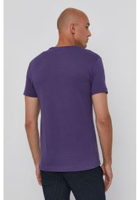 Polo Ralph Lauren - T-shirt bawełniany. Typ kołnierza: polo. Kolor: fioletowy. Materiał: bawełna. Wzór: gładki
