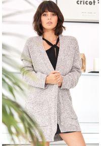 Sweter melanż, z długim rękawem