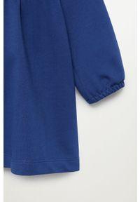 Niebieska sukienka Mango Kids prosta, casualowa