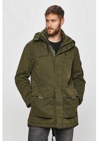 Zielona kurtka Pepe Jeans na co dzień, z kapturem, casualowa