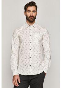 Biała koszula medicine z długim rękawem, klasyczna, na co dzień