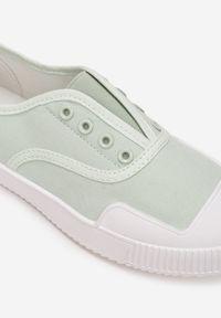 Renee - Miętowe Trampki Aglaorila. Nosek buta: okrągły. Zapięcie: bez zapięcia. Kolor: miętowy. Materiał: materiał, guma. Szerokość cholewki: normalna. Wzór: jednolity. Obcas: na płaskiej podeszwie