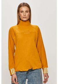 adidas Originals - Bluza. Kolor: żółty. Materiał: dzianina. Długość rękawa: długi rękaw. Długość: długie