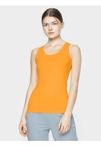 4f - Top damski. Kolor: pomarańczowy. Materiał: dzianina