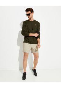 Ralph Lauren - RALPH LAUREN - Zielona koszulka z długim rękawem. Typ kołnierza: polo. Kolor: zielony. Materiał: bawełna, tkanina. Długość rękawa: długi rękaw. Długość: długie. Wzór: haft