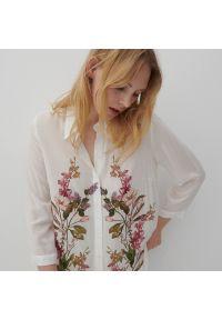 Reserved - Koszula z kwiatowym printem - Wielobarwny. Wzór: kwiaty, nadruk