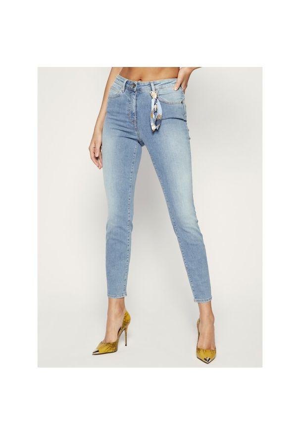 Niebieskie jeansy slim Luisa Spagnoli