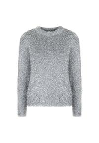 """Sugarbird Sweter """"Silver"""". Okazja: na co dzień. Materiał: tkanina. Długość rękawa: długi rękaw. Długość: długie. Styl: casual"""
