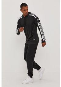 Czarna bluza nierozpinana adidas Performance z kapturem, casualowa, gładkie, na co dzień