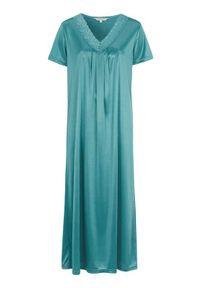 Cellbes Koszula nocna z koronką zamglona zieleń female zielony 50/52. Kolor: zielony. Materiał: koronka. Długość: krótkie. Wzór: koronka