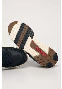 Niebieskie sneakersy Levi's® na sznurówki, z cholewką