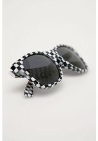 Czarne okulary przeciwsłoneczne Vans prostokątne