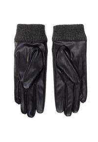 Desigual - Rękawiczki Damskie DESIGUAL - 20WAAL02 2000. Kolor: czarny. Materiał: skóra ekologiczna, poliester
