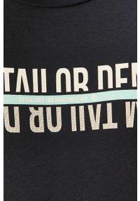 Niebieski t-shirt Tom Tailor Denim na co dzień, z nadrukiem, casualowy