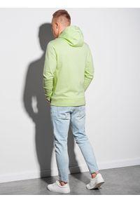 Ombre Clothing - Bluza męska z kapturem B1154 - limonkowa - XXL. Okazja: na co dzień. Typ kołnierza: kaptur. Materiał: bawełna, poliester. Styl: klasyczny, casual