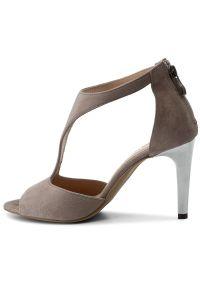 Szare sandały Karino klasyczne