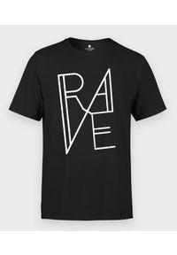 MegaKoszulki - Koszulka męska muzyczna RAVE. Materiał: bawełna