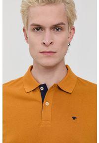 Tom Tailor - Polo bawełniane. Okazja: na co dzień. Typ kołnierza: polo. Kolor: pomarańczowy. Materiał: bawełna. Długość: krótkie. Wzór: gładki. Styl: casual