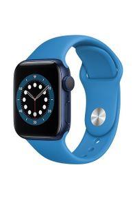 Niebieski zegarek APPLE sportowy, smartwatch