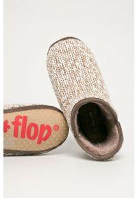 Flip*Flop - Kapcie Bonny Knit. Kolor: brązowy