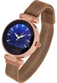Złoty zegarek Garett Electronics smartwatch