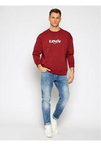 Levi's® Bluza Graphic 38712-0023 Bordowy Relaxed Fit. Kolor: czerwony